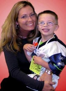 Kyron Horman with his Mother