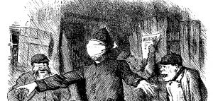 Cartoon criticising the police for their inability to find the Whitechapel murderer aka 'Jack the Ripper""
